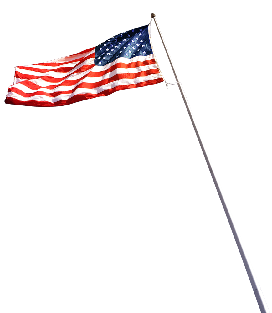 USA flag blowing in wind